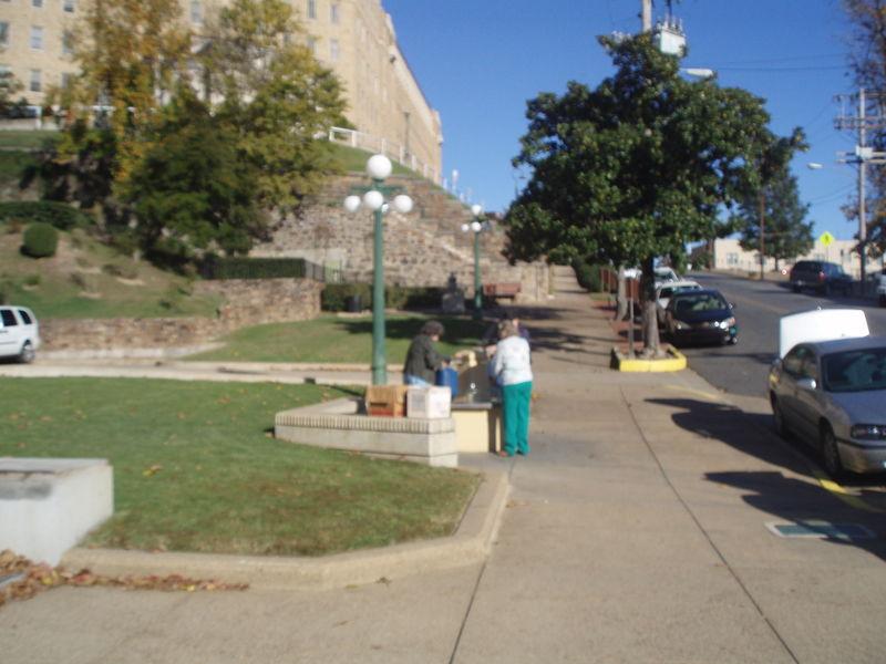 People filling water jugs hotsprings 18
