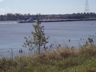 Barge on Mississippi view from RV Park62
