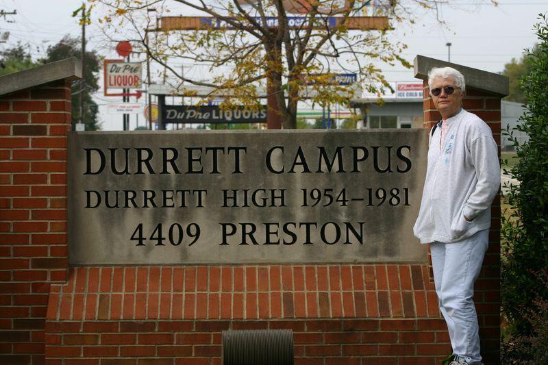 Sallie at durrett campus sign 0522