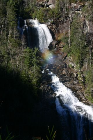 Waterfall rainbow north carolina 0656
