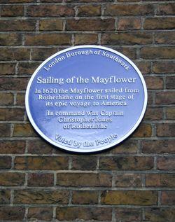 Mayflower tavern sign