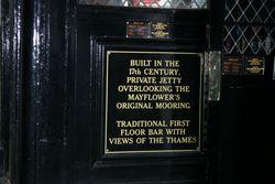 Mayflower bar sign