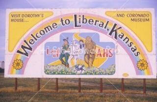 Liberal kansas sign
