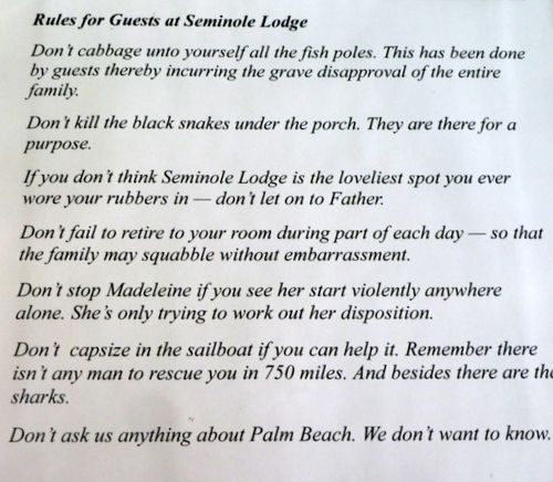 RULES FOR SEMINOLE LODGE EDISON EST