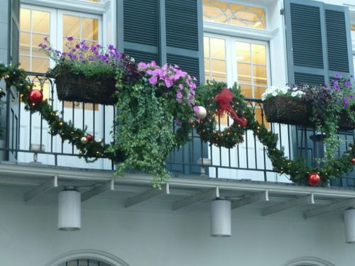 Balcony christmas