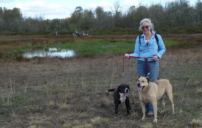 Freya chase with cyndi and pond
