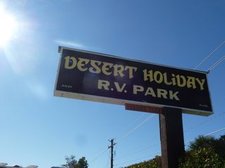 Desert holiday rv sigin