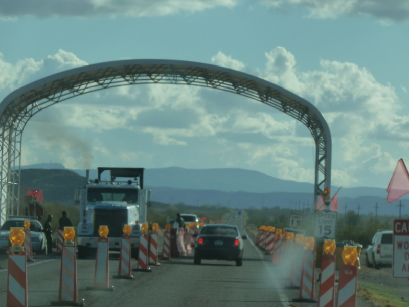 Az border patrol checkpoint