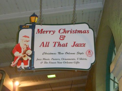 Christmas jazz sign