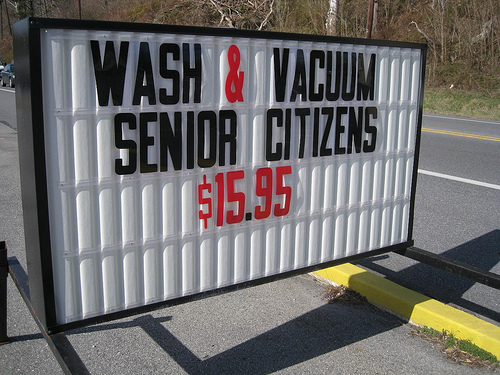 Sr citizens wash