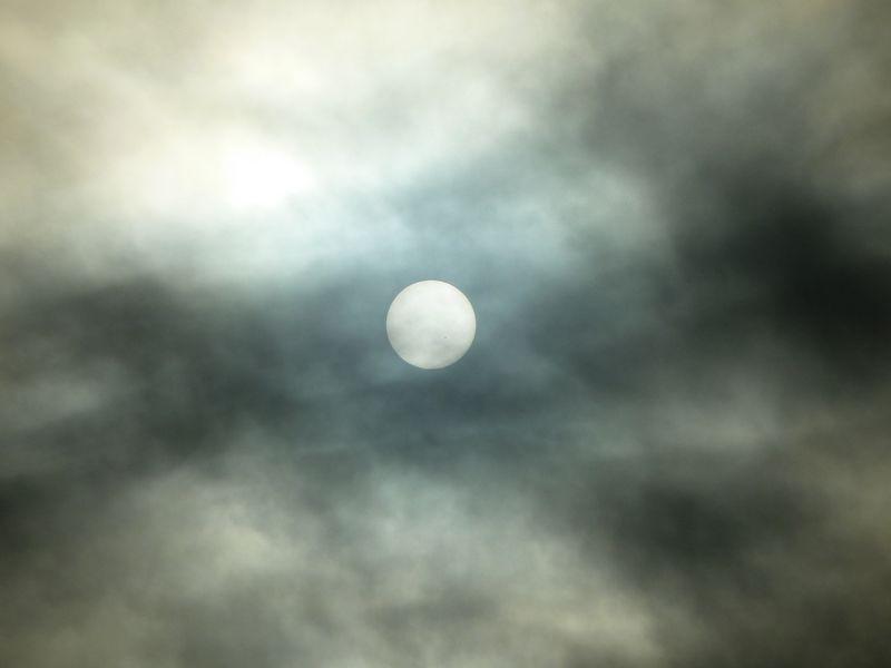 sun through cloud cover