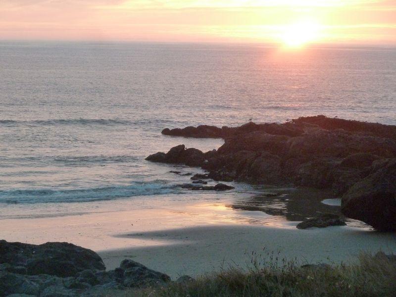 coastal sunset central oregon coast