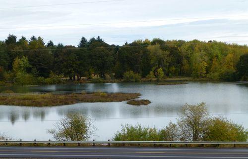 Kirk Pond from dam walkway