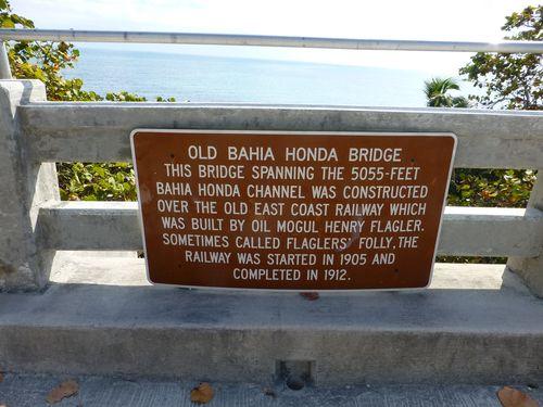 Bahia honda bridge exp sign
