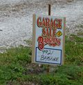 Man sale garage sale