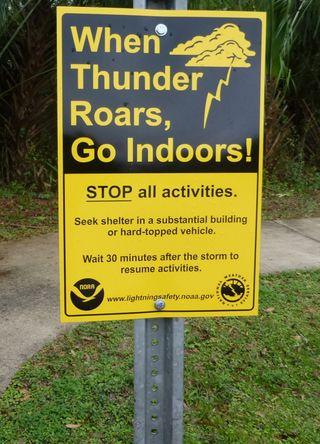 Signs thunder